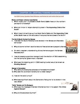 Advanced Placement U.S. History Bailey CH. 19 Study Guide