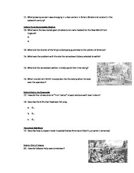 Advanced Placement U.S. History Bailey CH. 2 Study Guide Questions