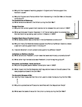 Advanced Placement U.S. History Bailey CH. 20 Study Guide Questions