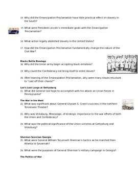 Advanced Placement U.S. History Bailey CH. 21 Study Guide Questions