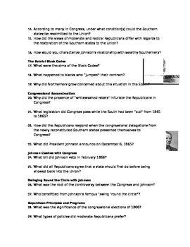 Advanced Placement U.S. History Bailey CH. 22 Study Guide Questions