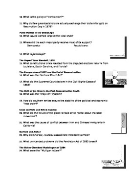 Advanced Placement U.S. History Bailey CH. 23 Study Guide Questions