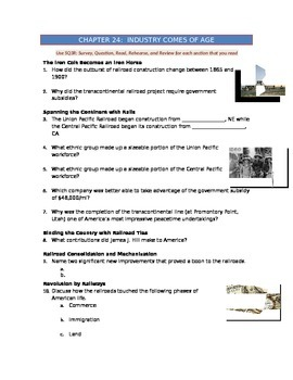 Advanced Placement U.S. History Bailey CH. 24 Study Guide Questions