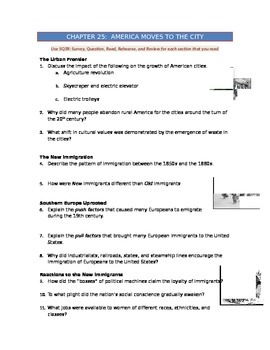 American Pageant Chapter 25 Worksheets & Teaching Resources
