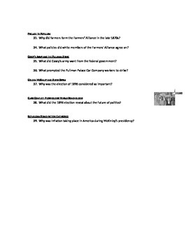 Advanced Placement U.S. History Bailey CH. 26 Study Guide Questions