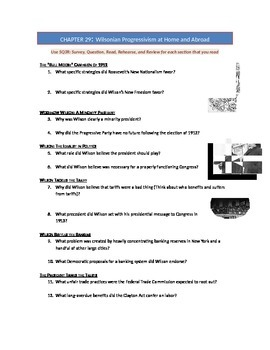 Advanced Placement U.S. History Bailey CH. 29 Study Guide Questions
