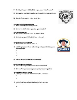 Advanced Placement U.S. History Bailey CH. 3 Study Guide Questions