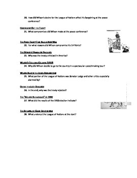 Advanced Placement U.S. History Bailey CH. 30 Study Guide Questions