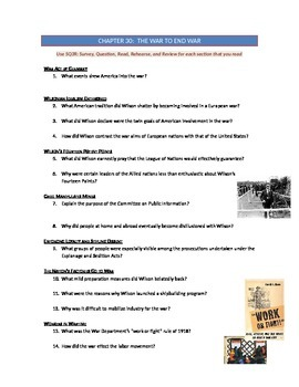 Advanced Placement U.S. History Bailey CH. 30 Study Guide