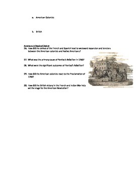 Advanced Placement U.S. History Bailey CH. 6 Study Guide Questions