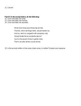 Advanced Poetic Device Test