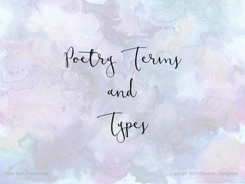 Advanced Poetry Terms and Types