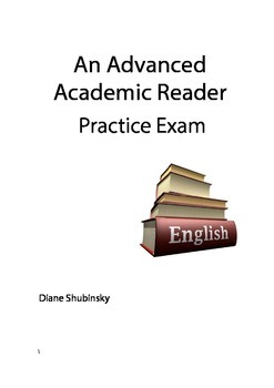 Advanced Practice Exam for Reading Comprehension