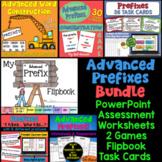 Advanced Prefixes Bundle of Activities: PowerPoint, Flipbook, Games, and more!