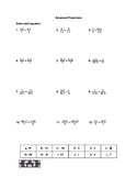 Advanced Proportion Equations VersaTile