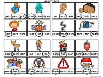 Advanced R-Controlled Vowel Clip Cards