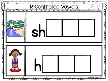 Advanced R-Controlled Vowels Magnetic Letter Activities