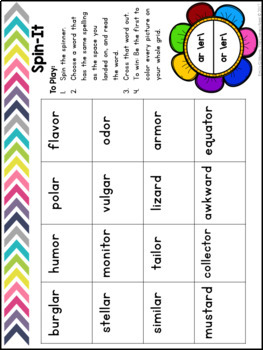 Advanced R-Controlled Vowels Practice AR OR  Orton-Gillingham Approach