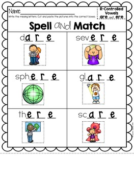 Advanced R-Controlled Vowels Spell and Match