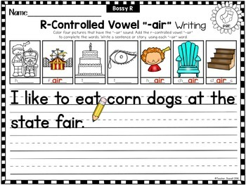 Advanced R-Controlled Vowels Writing Printables