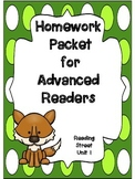 Advanced Readers Homework Packet, Unit 1, Reading Street, 1st Grade