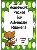 Advanced Readers Homework Packet, Unit 1, Reading Street, 1st Grade