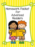 Advanced Readers Homework Packet, Unit 4, Reading Street
