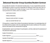 Advanced Recorder Group Student/Parent Contract