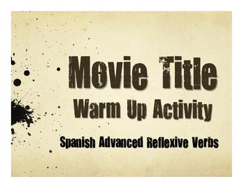 Spanish Advanced Reflexive Verb Movie Titles