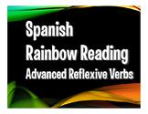 Spanish Advanced Reflexive Verb Rainbow Reading