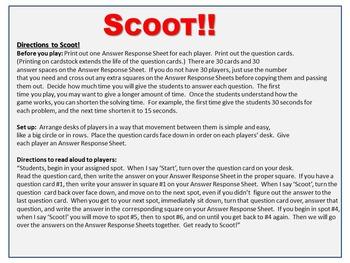 Advanced Roman Numerals Scoot Game - Review, Assess, GATE, Fun!
