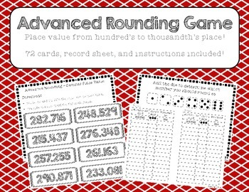 Advanced Rounding Game - Decimal Place Value