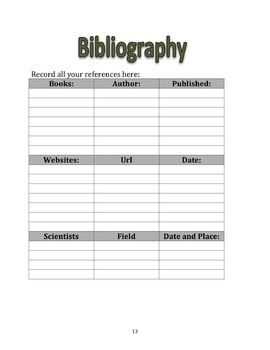 Advanced Science Project Log Book