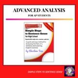 Advanced Sentence Analysis Grammar Unit from Simple Steps to Sentence Sense
