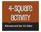 Advanced Ser Vs Estar Four Square Activity