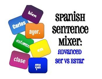 Advanced Ser Vs Estar Sentence Mixer