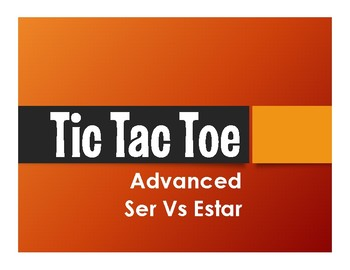 Advanced Ser Vs Estar Tic Tac Toe Partner Game