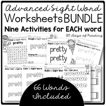 Advanced Sight Word Games and Activities for Word Work Centers