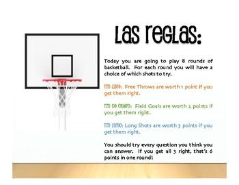 Advanced Spanish Grammar Basketball
