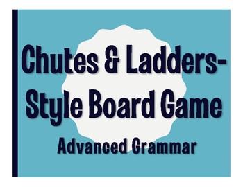 Advanced Spanish Grammar Chutes and Ladders-Style Game