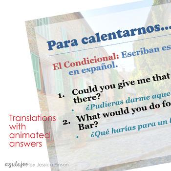 Advanced Spanish Grammar Complete Bellwork Bundle!