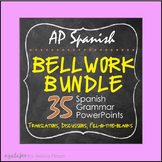 Advanced Spanish Grammar Complete Bellwork Bundle!