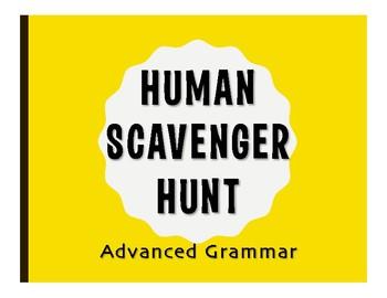 Advanced Spanish Grammar Human Scavenger Hunt