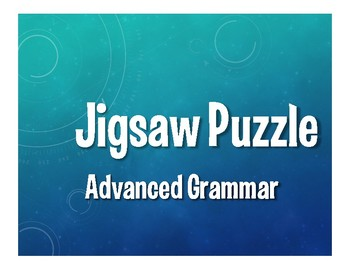 Advanced Spanish Grammar Jigsaw Puzzle