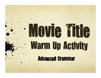Advanced Spanish Grammar Movie Titles
