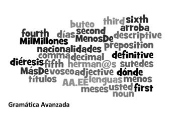 Advanced Spanish Grammar Partner Games