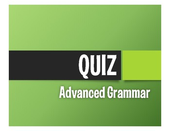 Advanced Spanish Grammar Quiz