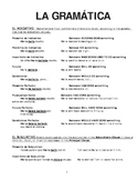 Advanced Spanish Grammar Reference Packet