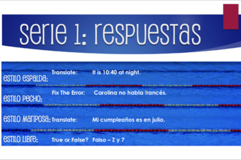 Advanced Spanish Grammar Relay Race
