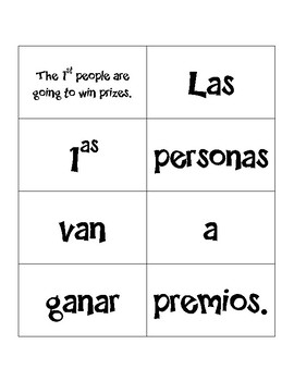 Advanced Spanish Grammar Sentence Mixer